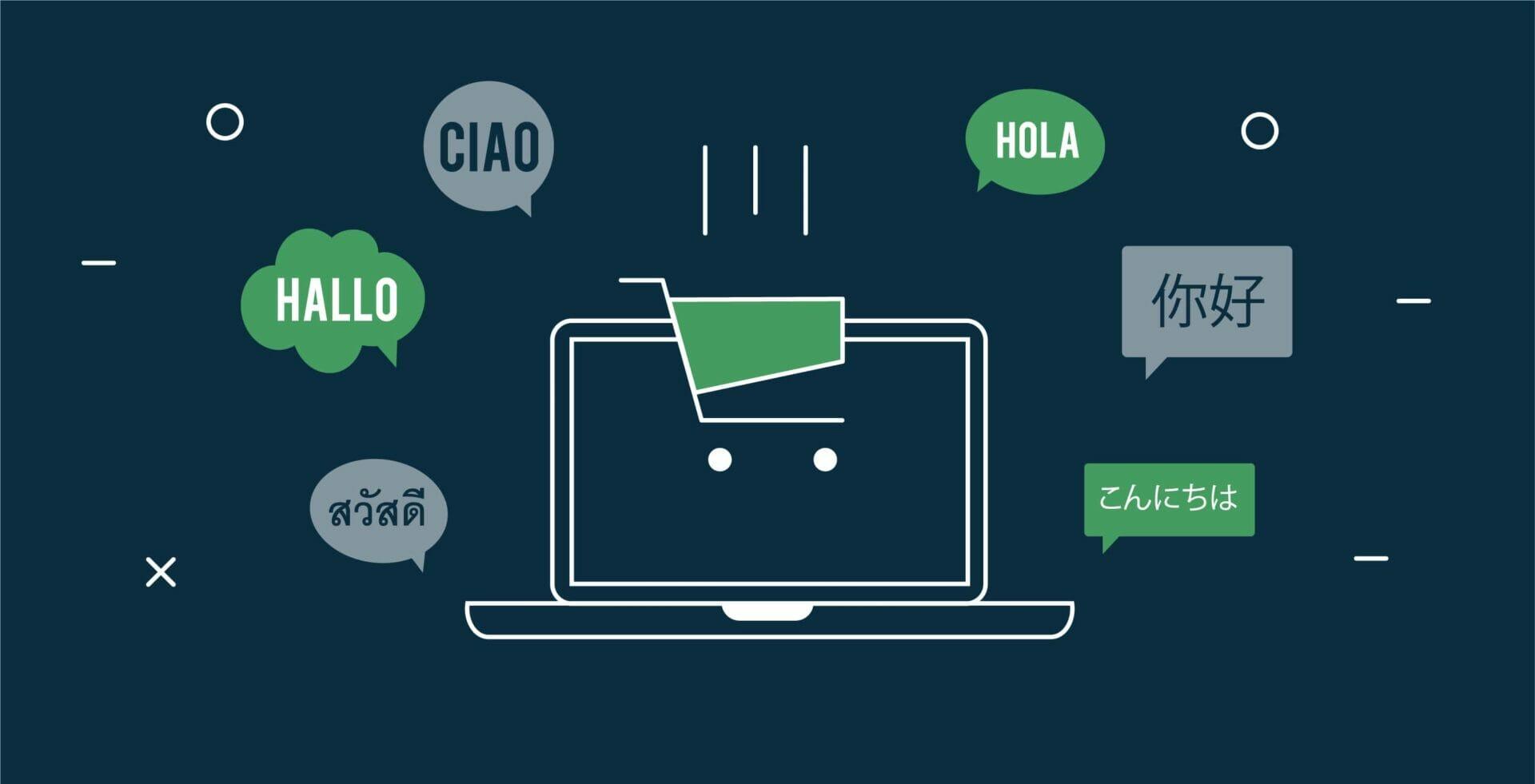 e-commerce internazionale multilingua