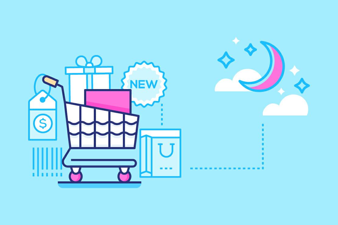 fare shopping online durante la notte