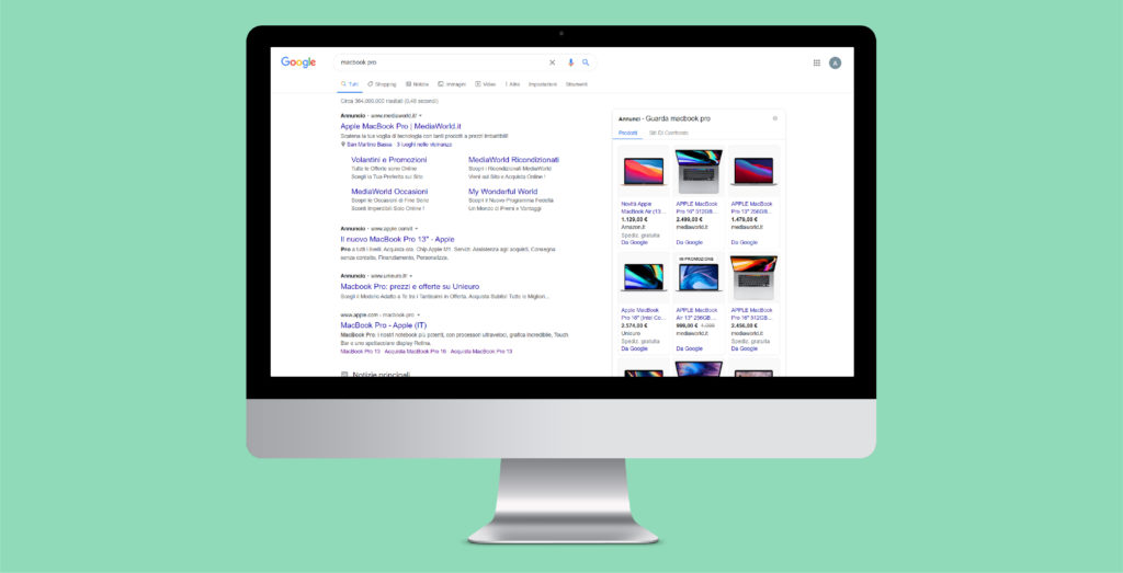 annunci di google shopping