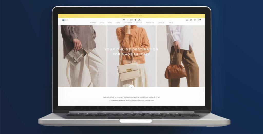 e-commerce di successo Mirta