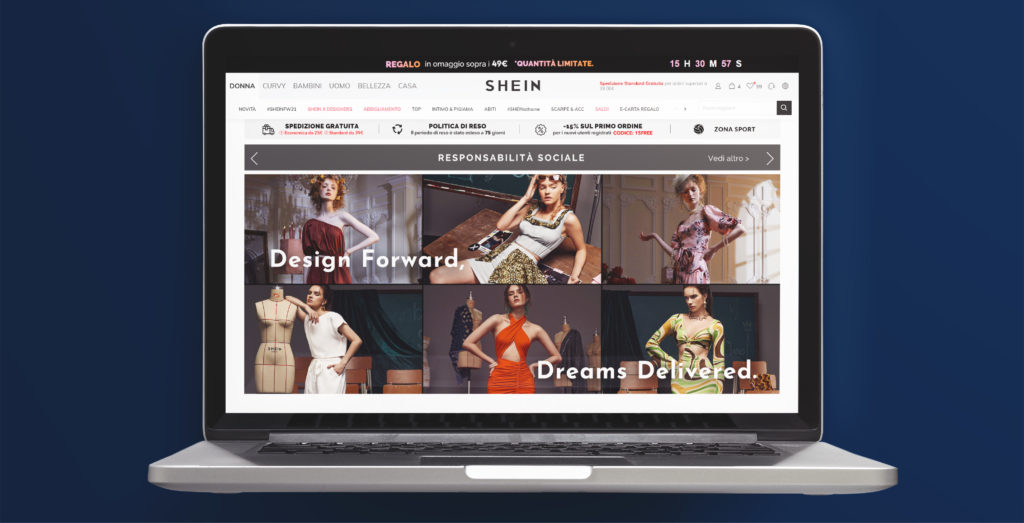 e-commerce di successo Shein