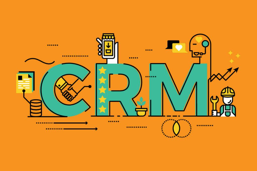 CRM per e-commerce poster
